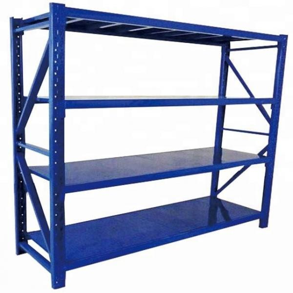 Office / Library File Storage Push Rolling Metal Cart Basket Rack for Book and Magazine #3 image